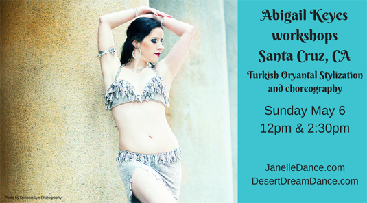 Abigail Keyes Turkish Dance Workshop in Santa Cruz